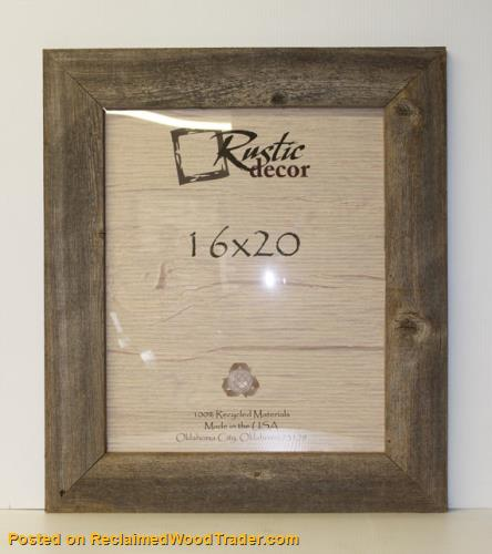 Extra Wide Reclaimed Wood Wall Frames - Home & Office Decor ...